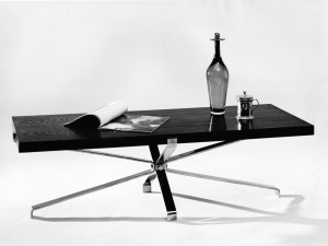 Tafel 1960 hout/chrome
